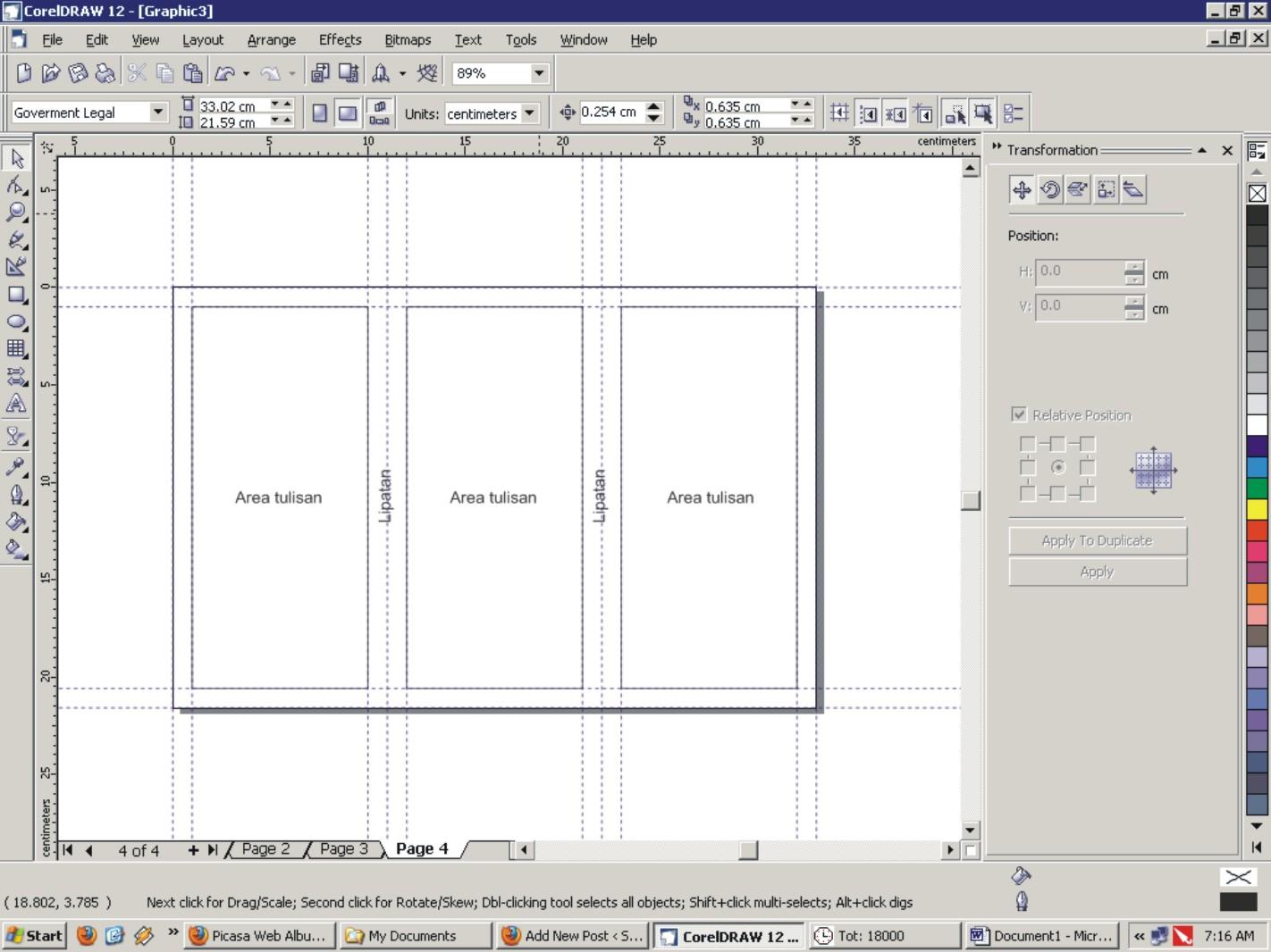 Membuat Layout Leaflet CorelDraw | Sigithebest's Site
